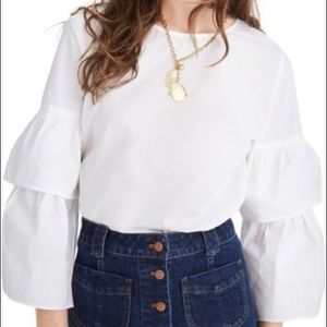 Madewell Tiered Ruffle Sleeve Top